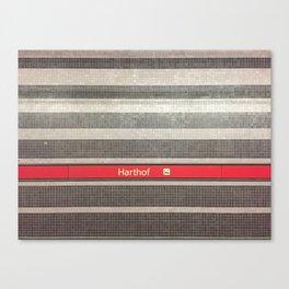 Munich U-Bahn Memories - Harthof Canvas Print