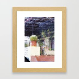 Through the window: Soft colors abstract Framed Art Print