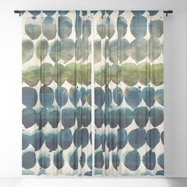 Color Jewels 9-2zd by Kathy Morton Stanion Sheer Curtain
