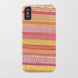 Tribal#1 (Orange/Pink/Yellow) iPhone Case