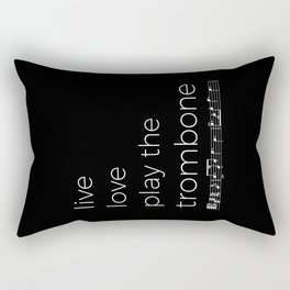 Live, love, play the trombone (dark colors) Rectangular Pillow