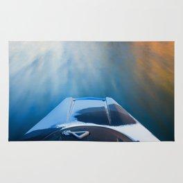 Moving Fast Kayaking on McCloud Reservoir Rug
