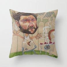 LOGAN'S BBQ Throw Pillow