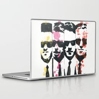 """tarantino Laptop & iPad Skins featuring """"The Dogs"""", ink and watercolor. by DJayK"""