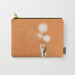 Bunny and Dandelion Bouquet Carry-All Pouch