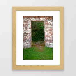 Enter In Framed Art Print