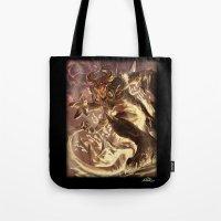 diablo Tote Bags featuring Diablo by daniel_b_demented
