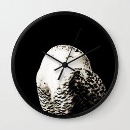 Snow Owl #1 #animal #decor #art #society6 Wall Clock