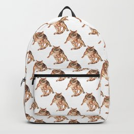 Bengal cat Painting Wall Poster Watercolor Backpack