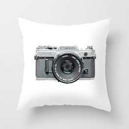Vintage Camera Phone Throw Pillow