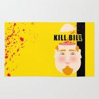kill bill Area & Throw Rugs featuring Kill Bill by Frikaditas T-Shirts
