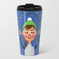 Holiday with Lights Travel Mug