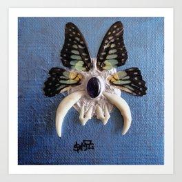 fox teeth and butterfly wings Art Print