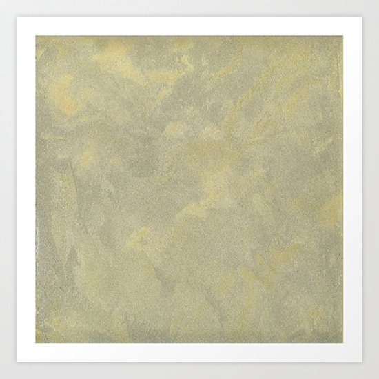 Modern Masters Metallic Plaster - Aged Gold and Silver Fox - Custom Glam Art Print
