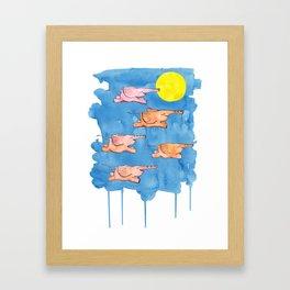 Flying Elephants Framed Art Print