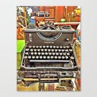 typo Canvas Prints featuring Typo by Hayden Marx