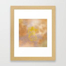 Golden Angel with trumpet Framed Art Print