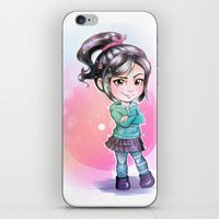 wreck it ralph iPhone & iPod Skins featuring Vanellope - Wreck-it Ralph by Claire