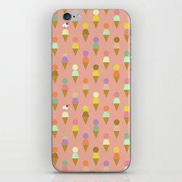Ice Cream Cone Pattern Pink Robayre iPhone Skin