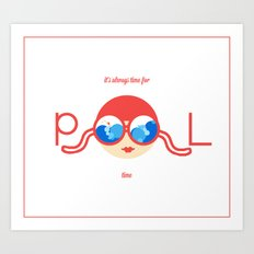 Let's have a pool party. Art Print
