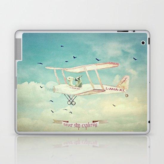 Never Stop Exploring III Laptop & iPad Skin