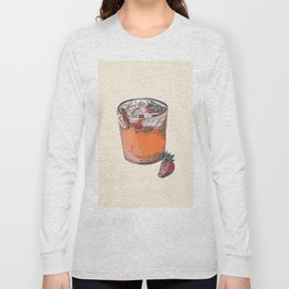 Strawberry chamomile paloma, cocktail, cocktails, beverage Long Sleeve T-shirt