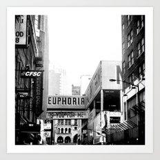 Euphoria Black & White Art Print