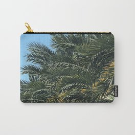 Palm Trees Grove Upshot In Blue Sky  Carry-All Pouch