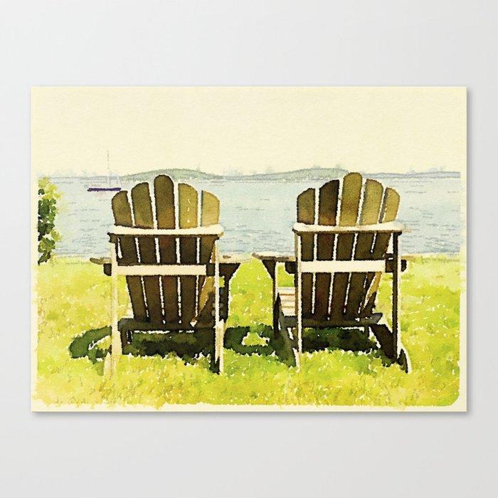 Adirondack Chairs, Maine Canvas Print