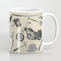 the walking dead Mugs featuring Artifacts: Walking Dead by Josh Ln