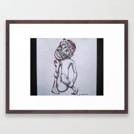 Santu Framed Art Print