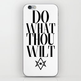 Do What Thou Wilt (Light) iPhone Skin