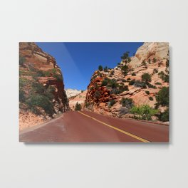 Zion Park Red Road Metal Print