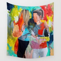 queer Wall Tapestries featuring Sam and Mon by Kim Leutwyler