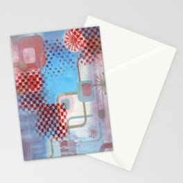 Checked Background Stationery Cards