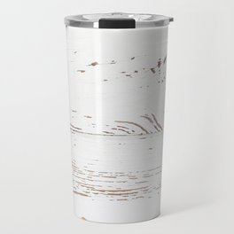 Vintage White Wood Travel Mug