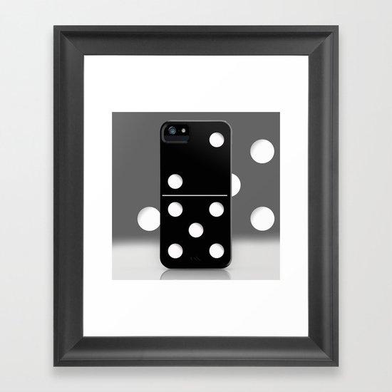 Domino Framed Art Print