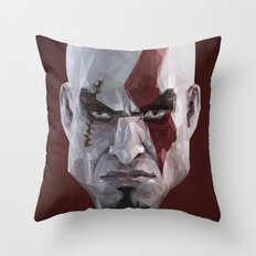 Triangles Video Games Heroes - Kratos Throw Pillow
