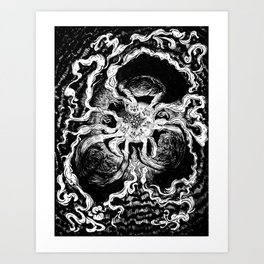 Live elves and fairies in a ring Art Print