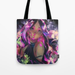 Neon Girl Tote Bag