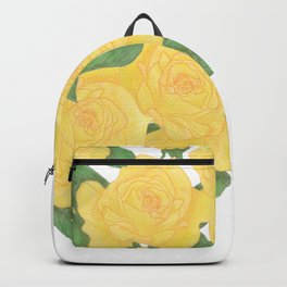 Yellow Rose Bouquet Digital Drawing Backpack