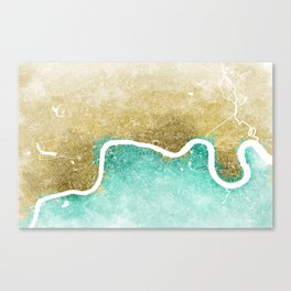London Abstract Map #2 Canvas Print