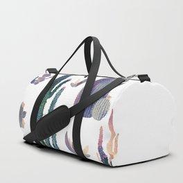 Watercolor Catus Duffle Bag