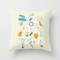 adventure Throw Pillows featuring Adventure  by Wharton