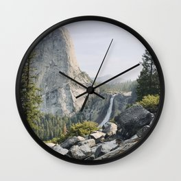 Liberty Cap and Nevada Falls in Morning Light Wall Clock