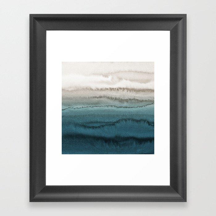WITHIN THE TIDES - CRASHING WAVES TEAL Gerahmter Kunstdruck