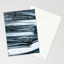 Abstract Chrome Silver Paint V Stationery Cards