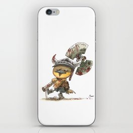 Poussin Barbare iPhone Skin