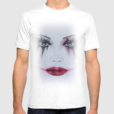 Harley Quinn Mens Fitted Tee MEDIUM White