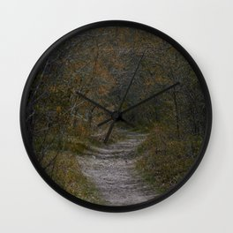Off the Paved road Wall Clock